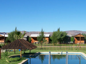 Image of chalets to show the accomodation of the hotel